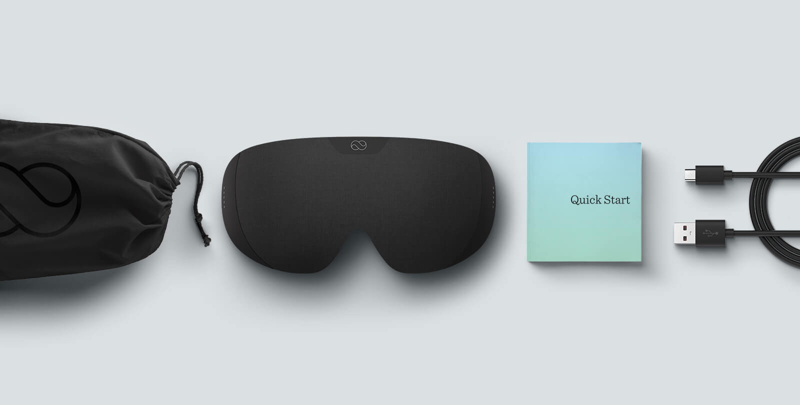 Lumos Tech Smart Sleep Mask and included accessories