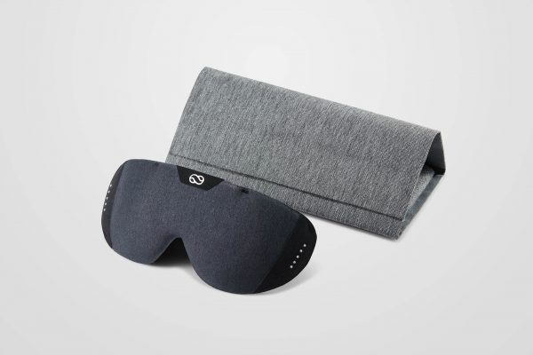 The Lumos Tech Smart Sleep Mask and travel case